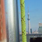 高層ビル屋上の避雷鉄塔解体:東京都千代田区