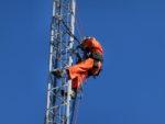 クリエートタワーの一部撤去工事:茨城県水戸市