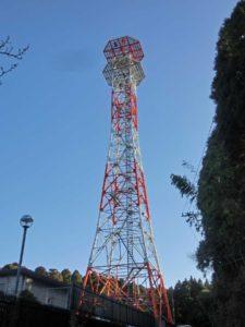 100mの通信鉄塔の解体撤去