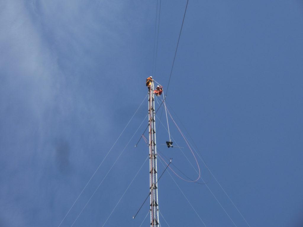 風況観測タワーの撤去工事