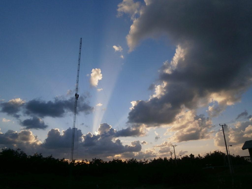 風況観測タワーの解体撤去